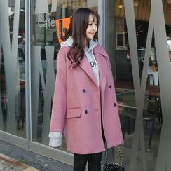 Envy Look - Wool Blend Double-Breasted Coat
