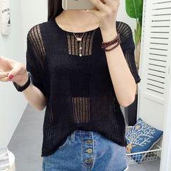芙苪FR - 寬鬆針織罩衫上衣