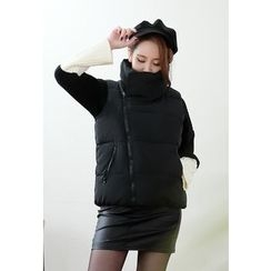 Dalkong - Funnel-Neck Zip Padded Vest