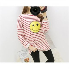 PEPER - Printed Striped T-Shirt