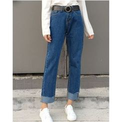 MATO - Cropped Straight-Cut Jeans