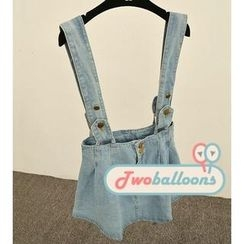 JVL - Suspender Denim Skirt