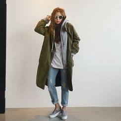 NANING9 - Cotton Distressed Coat