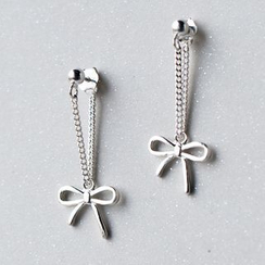 A'ROCH - 925 Sterling Silver Bow Earrings