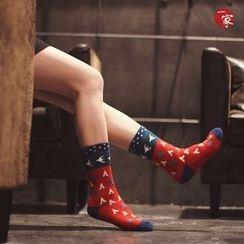 Socka - Furry-Lined Printed Socks