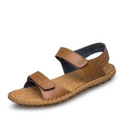 EnllerviiD - Genuine Leather Flat Sandals