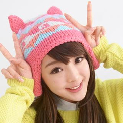 59 Seconds - Ear Accent Pattern Beanie
