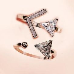 Nanazi Jewelry - Crystal Arrow Open Ring