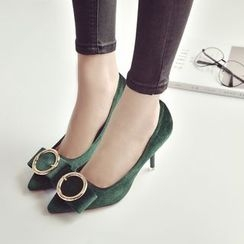 Wello - Buckled Pointed Pumps