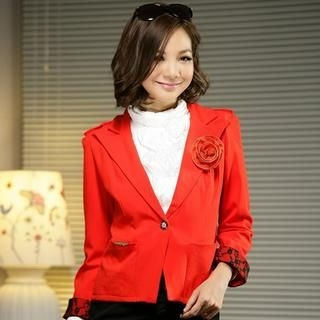 JK2 - Single-Buttoned Jacket with Brooch
