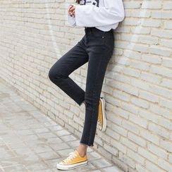 Leewiart - Fray Hem Jeans