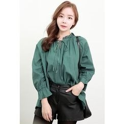 Dalkong - Puff-Sleeve Blouse