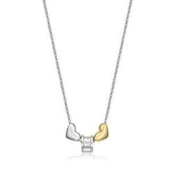 Kenny & co. - Steel Roll with Heart Pair Pendant