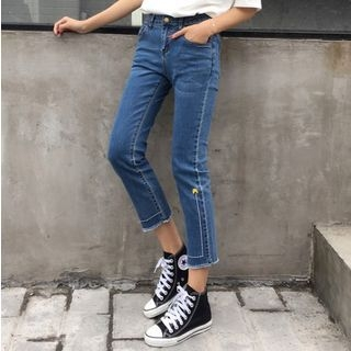 Tiny Times - Embroidered Boot-cut Jeans