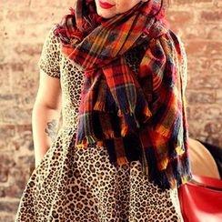 Cuteberry - 流蘇格紋圍巾