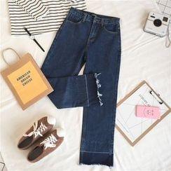 Dasim - Fray Wide-leg Jeans
