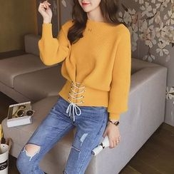 Cocofield - Lace-Up Sweater