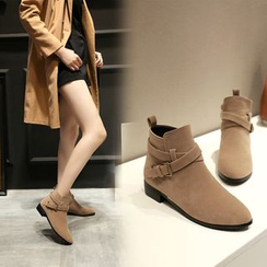 Shoes Galore - Buckled Ankle Boots
