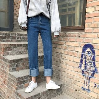 Tiny Times - Cuffed Straight Jeans
