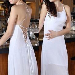 Isadora - Spaghetti Strap Open Back Maxi Dress