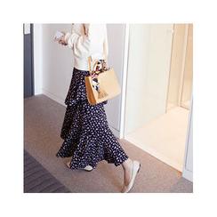 MASoeur - Asymmetric-Hem Floral Print Skirt