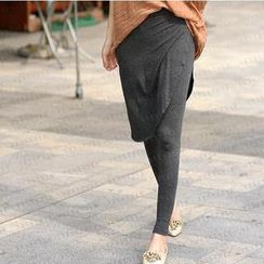 SO Central - Inset Diagonal Hem Skirt Leggings