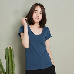 11.STREET - Plain Short-Sleeve T-shirt