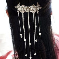 Paparazzi - Faux Pearl Dangling Hair Pin
