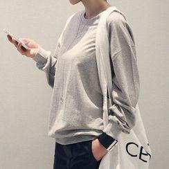 NANING9 - Cotton Plain Sweatshirt