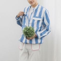 Mr. Wu - Striped Long-Sleeve Shirt