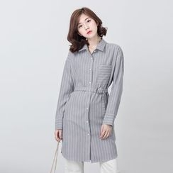 BORAN - Pinstriped Long Shirt