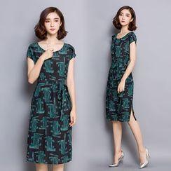 Raison d'etre - Short-Sleeve Printed Dress