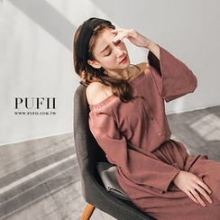PUFII - Off-Shoulder Jumpsuit