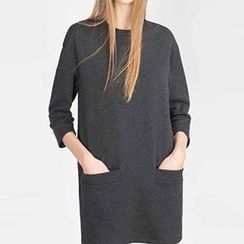Rebecca - 3/4-Sleeve Pocketed Dress