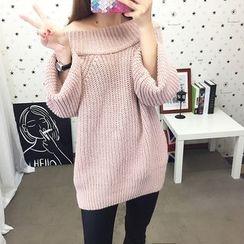 Emeline - 露肩粗織毛衣