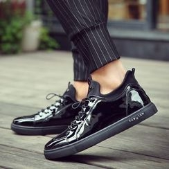 MARTUCCI - Lace-Up Patent Sneakers