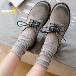 MITU - 镂空薄款堆堆短袜