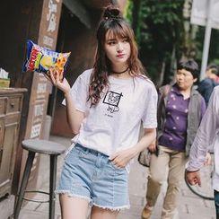 微米家 - 狗印花短袖T恤