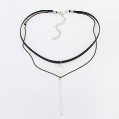 Bling Thing - Layered Pendant Choker