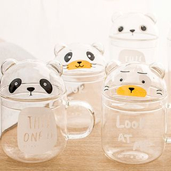Show Home - Animal Glass Cup with Lid