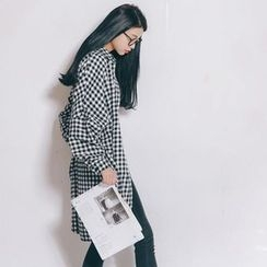 Porta - Gingham Long Shirt