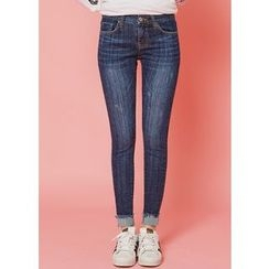 J-ANN - Washed Skinny Jeans