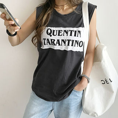 NANING9 - Lettering Tank Top