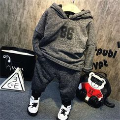 Spring Swallow - Kids Set: Printed Hooded Pullover + Pants