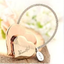 MILESI - Double-Heart Keychain