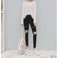 Jeans Kingdom - Ripped Skinny Jeans