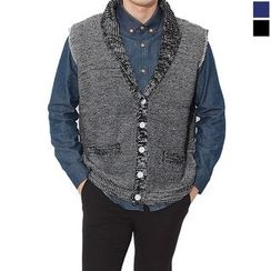 Seoul Homme - Single-Button Knit Vest