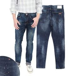 Seoul Homme - Striahgt-Cut Distressed Jeans