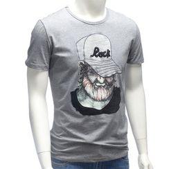 YesStyle M - Short-Sleeve Printed T-Shirt