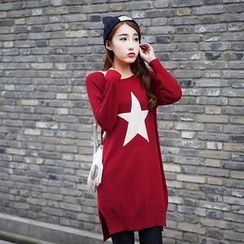 Loytio - Star Knit Long Sweater